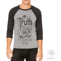 THE TRUTH WILL SET YOU FREE - T-SHIRT BASEBALL UNISEXE - TAILLE XL