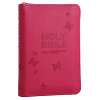 Anglais, Bible, NIV Tiny Pink Soft-Tone - with Zip, Silver-Edged [New International Version]