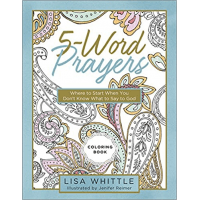 5-Word Coloring Book - Where to start when you don't know what to say to God